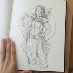Orc Headhunter Sketch
