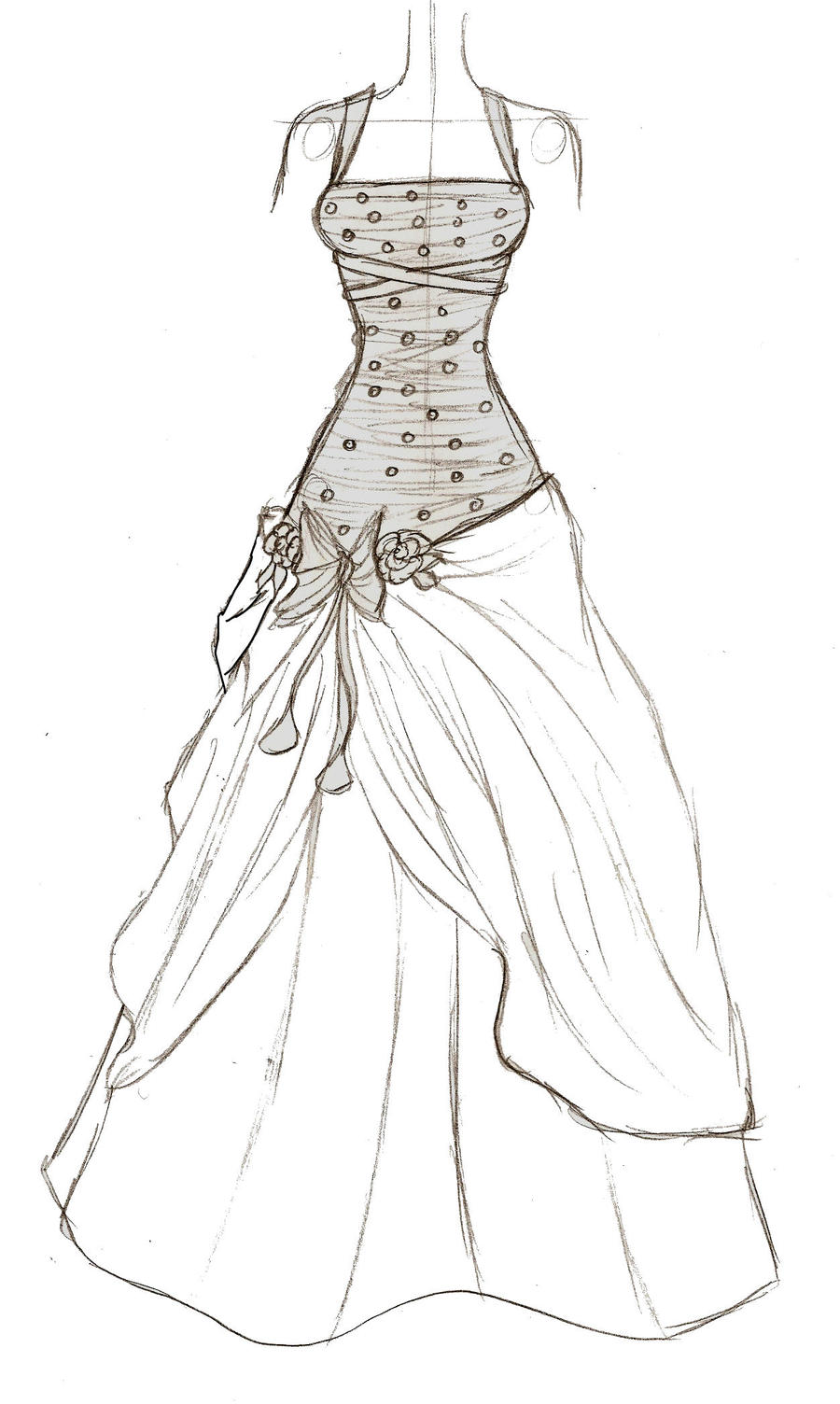 Prom dress by upon a remstar on deviantart for Dress coloring pages