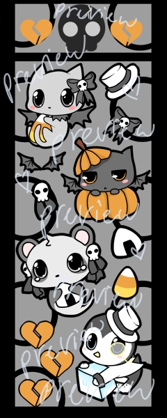 halloween stickers by Cute,n,Deadly