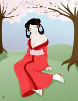 Kaida Under Cherry Blossoms by mizziness