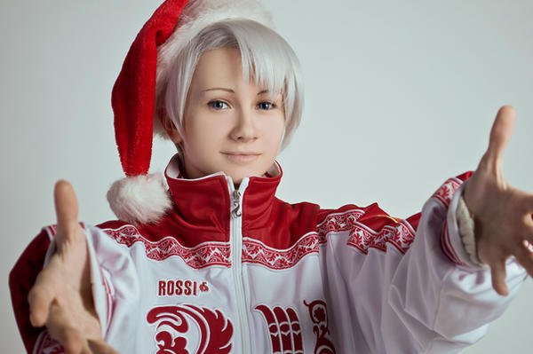 Yuri on Ice cosplay -  Marry Christmas ver. - 3 by Dokura-chan