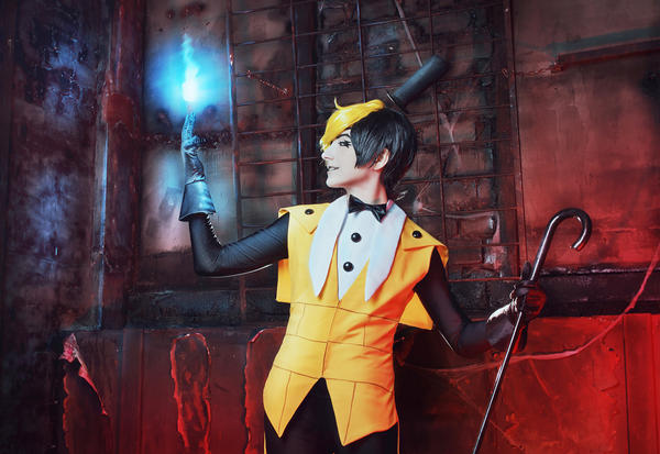 Gravity falls - Bill Cipher cosplay - 5 by Dokura-chan
