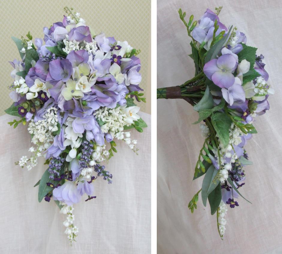 lilac teardrop bouquet by sarahsweddingflowers on deviantart