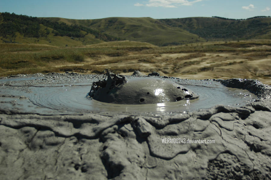 Mud volcanoes by wera100243