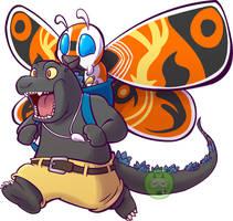 Godzilla-Mothra color