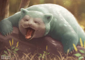 LAZY AFTERNOON Snorlax by JaimeQuianoJr