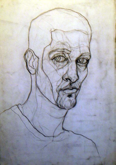 Blind Contour Line Drawing Self Portrait : Blind contour portrait by kapnkendall on deviantart