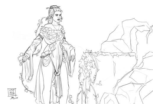 Inktober - Ivy elf