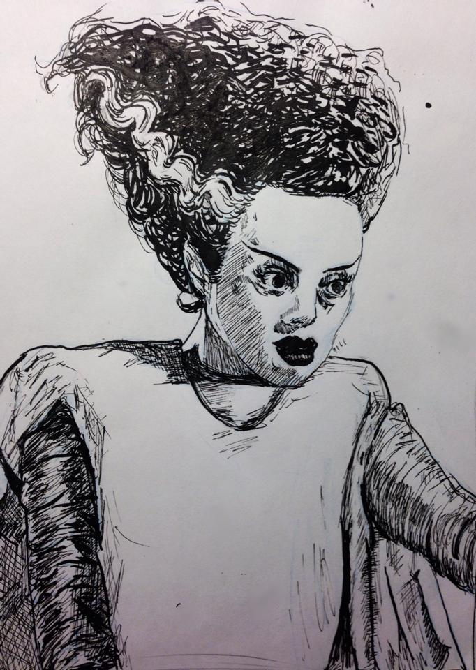 Bride of Frankenstein, Elsa Lanchester by tsunadeboo22