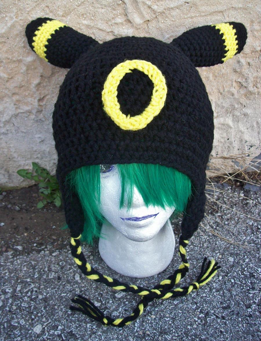 Crocheted Umbreon Hat by Cloud-Leporifelis on deviantART