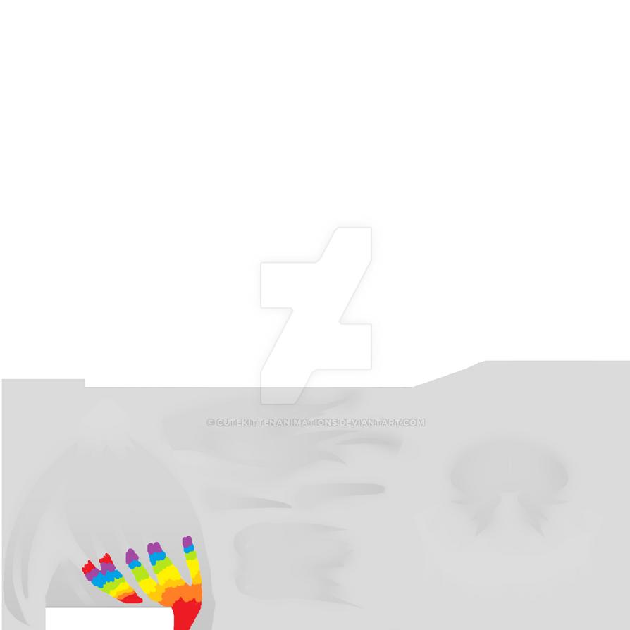 Yandere Simulator Ink Sans Hair by CuteKittenAnimations on DeviantArt
