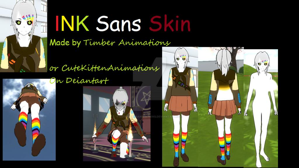 Yandere Simulator Skins: Ink Sans by CuteKittenAnimations on DeviantArt