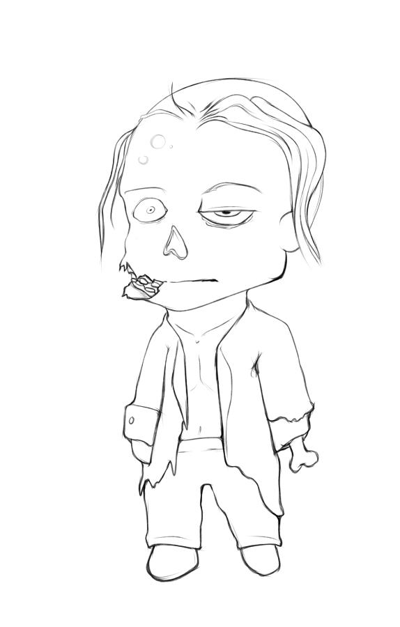Chibi  Zombie by aLameUserName