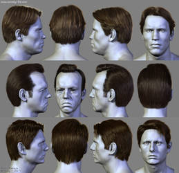 7 Hairstyles (3) by Woodys3d