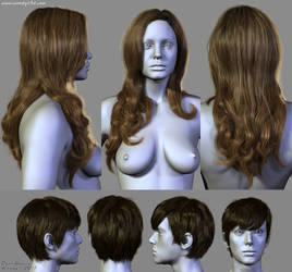 7 Hairstyles (1) by Woodys3d