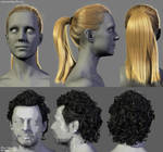 Male and Female Hairstyles