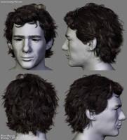 Ayrton Senna Hair by Woodys3d