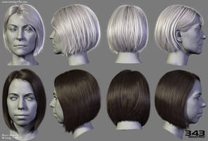 Halo Hairstyles 03 by Woodys3d