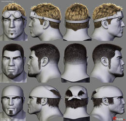 Gears of War Hairstyles 01
