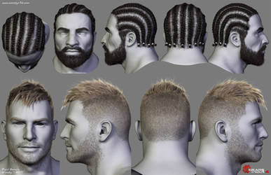 Gears of War Hairstyles 03 by Woodys3d