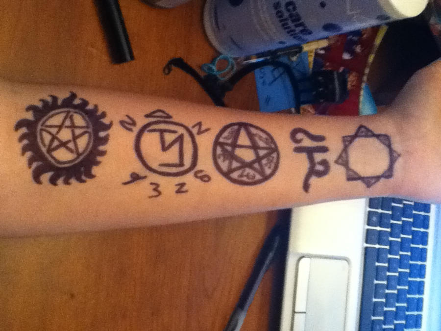 Supernatural Symbols By Squidgodws On Deviantart