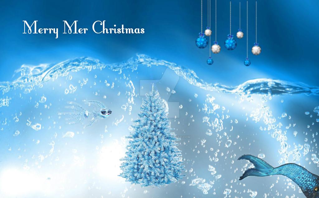 Mermaid Christmas Card by cookiebaby722 on DeviantArt