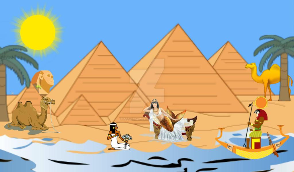 Egyptian MerGoddess by cookiebaby722