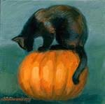 Halloween Cat by tuolumney