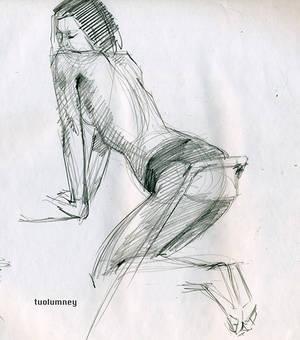 Figure drawing gesture