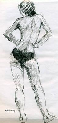 Figure drawing gesture 2