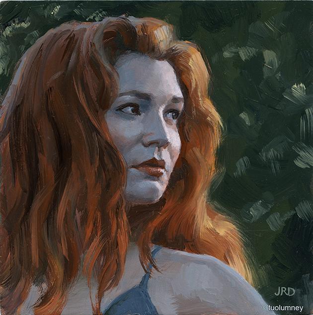 Low Light oil painting study ZORN PALETTE by tuolumney