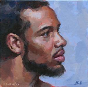 Joe in acrylics