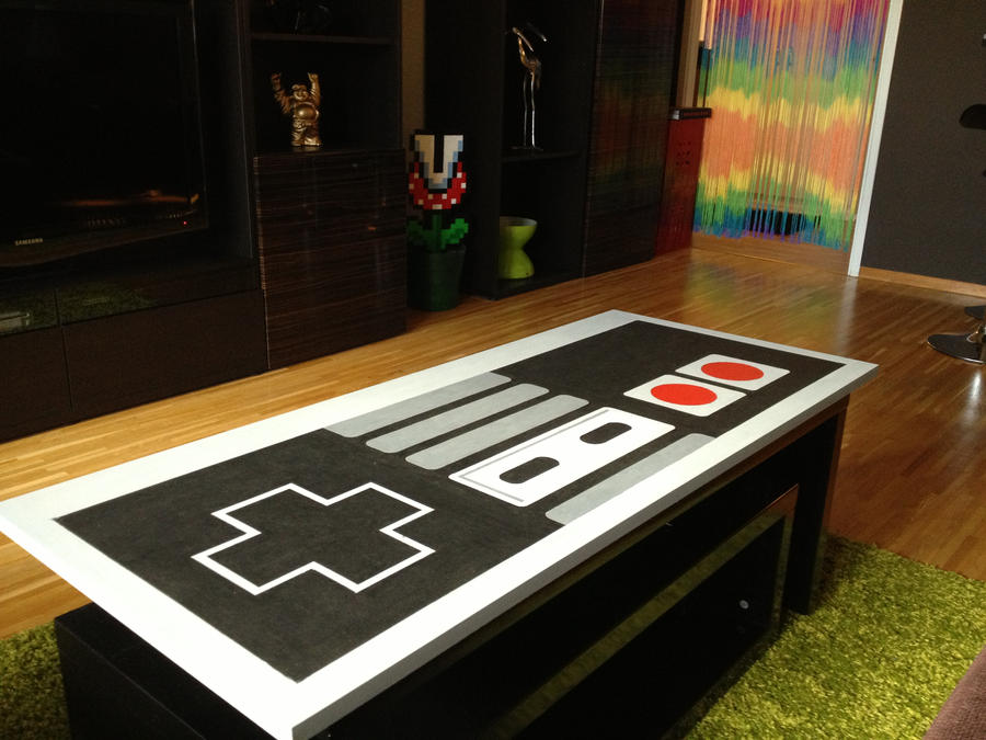 Nintendo Coffee Table by sajaaaa on DeviantArt