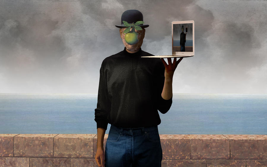 Rene Magritte The Son Of Man The Son of Man by jstvndrr