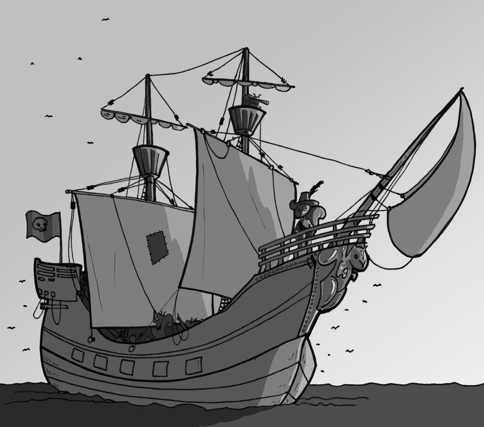 Bateau Pirate by paulmuabdib