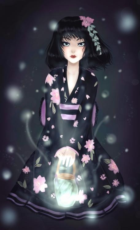Kimono dollfie for Mio27 by Solceress