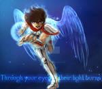 Through your eyes their light burns - Seiya