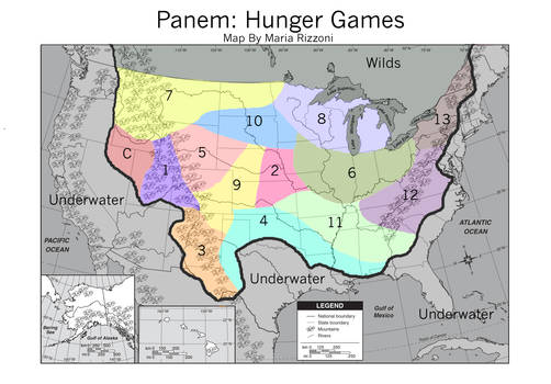 Hunger Games: Map of Panem