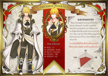 [OC] Phyrhos character sheet by Zoleir