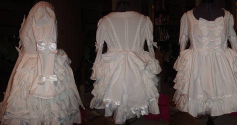 White on White on White ruffles and lace