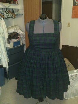 Blackwatch Tartan dress
