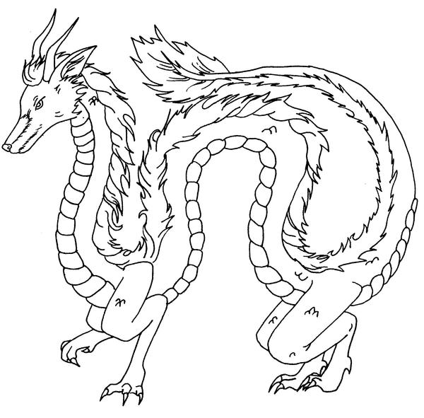 Windshear Dragon Coloring Page