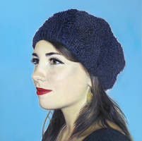 Girl in Knitwear Hat