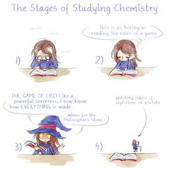 IMF: The Stages of Studying Chemistry by FishOni