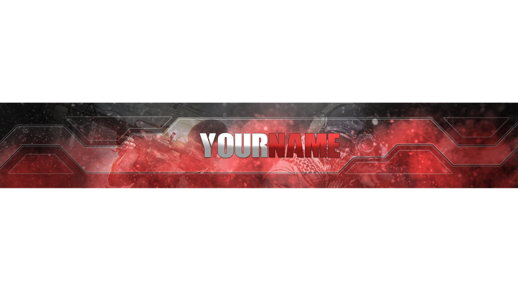 COD YouTube Banner Template by IISP33DII on DeviantArt