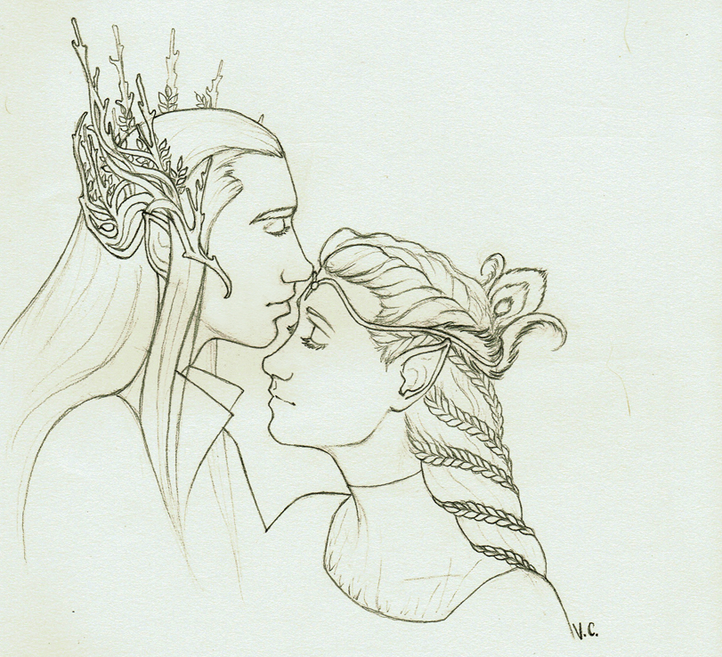 Thranduil and Calariell by VitiS-Lololo
