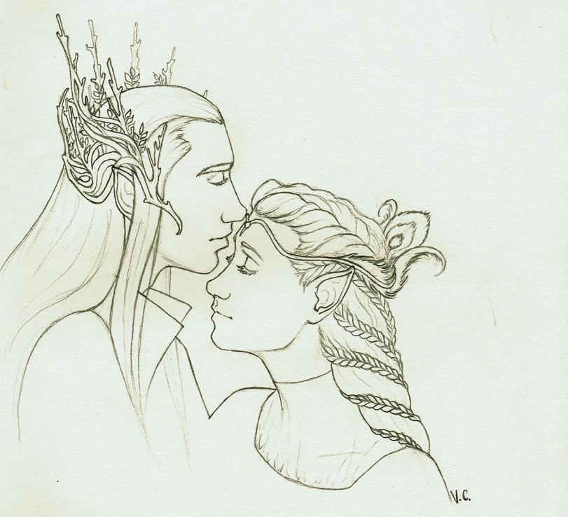 Thranduil and Calariell by VitiS-Lololo