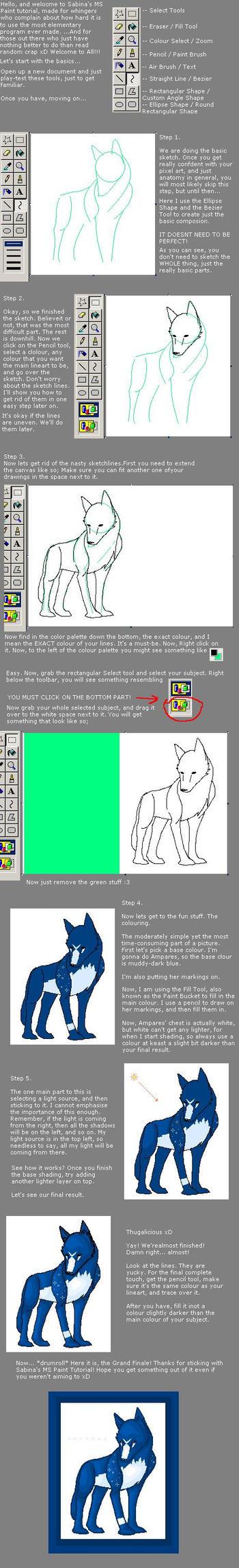 MS Paint Tutorial by wolfygelert