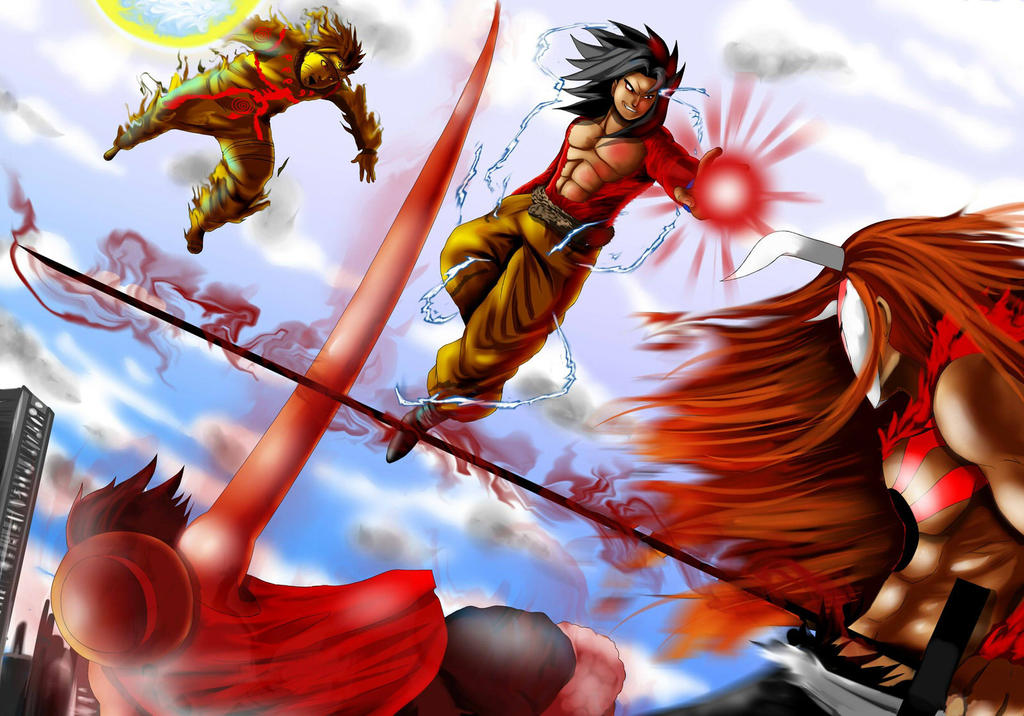 One piece bleach dragon ball z naruto shippuden by - Naruto and dragonball z ...