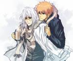 Beach Ichigo and Zangetsu